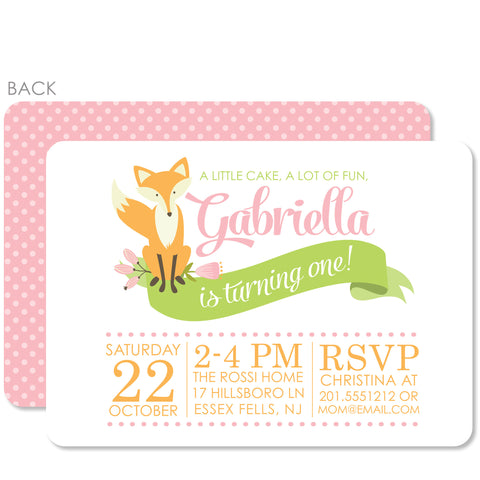 Fox Invitation | Swanky Press | Pink