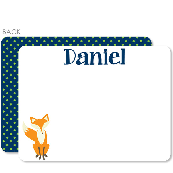 Fox Flat Notecard | Swanky Press | Blue