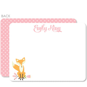 Fox Flat Notecard | Swanky Press | Pink