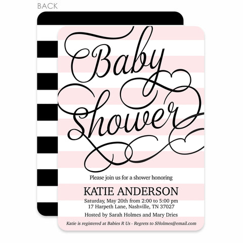 Fresh Stripes Baby Shower Invitation