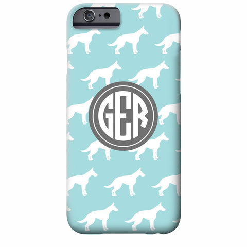 Monogrammed German Shepherd iPhone Case | Swanky Press