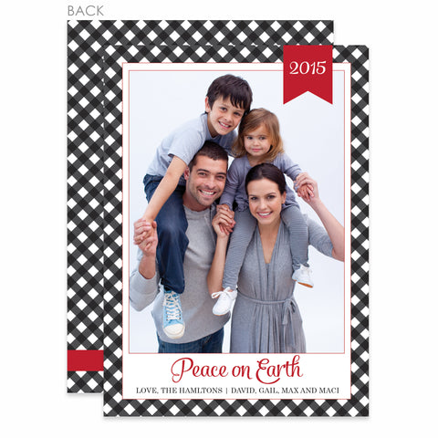 Gingham Holiday Photo Card