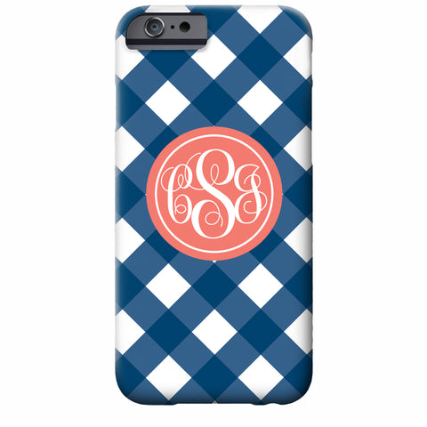 Monogrammed Gingham iPhone Case | Swanky Press