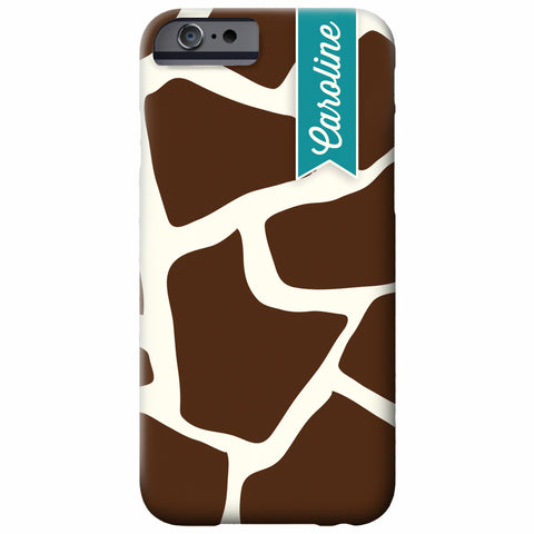 Personalized Giraffe iPhone Case | Swanky Press