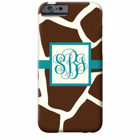Monogrammed Giraffe iPhone Case | Swanky Press