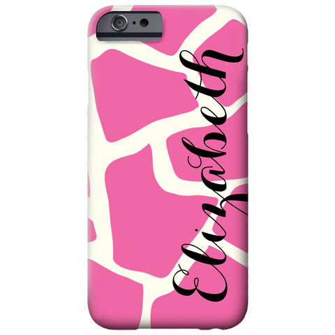 Personalized Pink Giraffe iPhone Case | Swanky Press