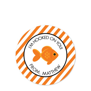 Goldfish Valentine's Day Stickers