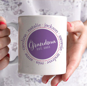 Grandma Personalized Coffee Mug, PIPSY.COM