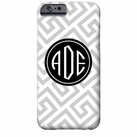 Monogrammed Greek Key iPhone Case | Swanky Press