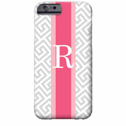 Personalized Greek Key iPhone Case | Swanky Press