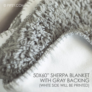 Extra Large Gray Sherpa Name Blanket | Pipsy.com