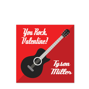 You Rock Guitar Valentine's Day Class Stickers