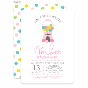 Gumball Birthday Invitations, Candy Party, PIPSY.COM