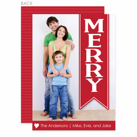 Hanging Banner Holiday Photo Card