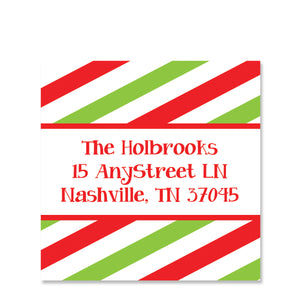 Happy Merry Joyful Return Address Stickers