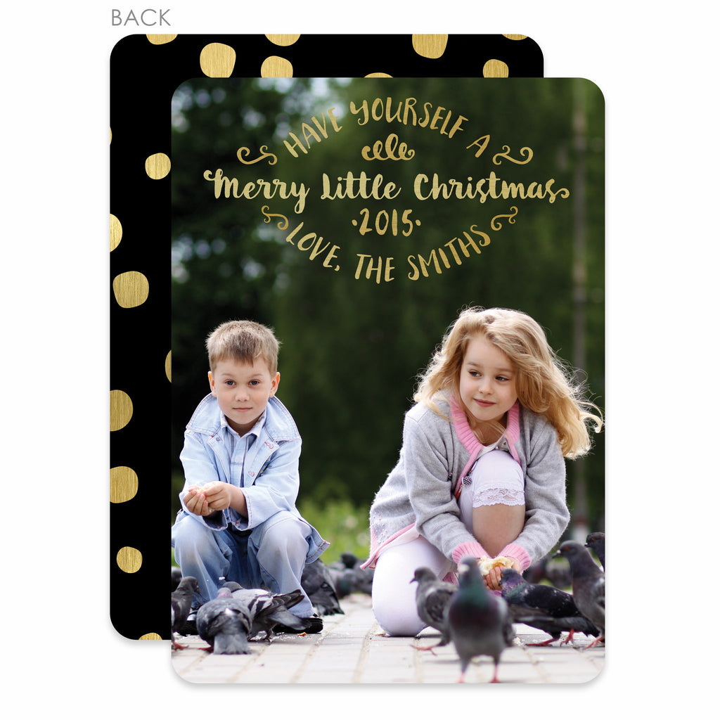 Have Yourself A Merry Little Christmas Holiday Photo Card