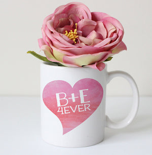 Heart 4ever coffee mug personalized