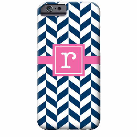 herringbone initial iPhone case | Swanky Press