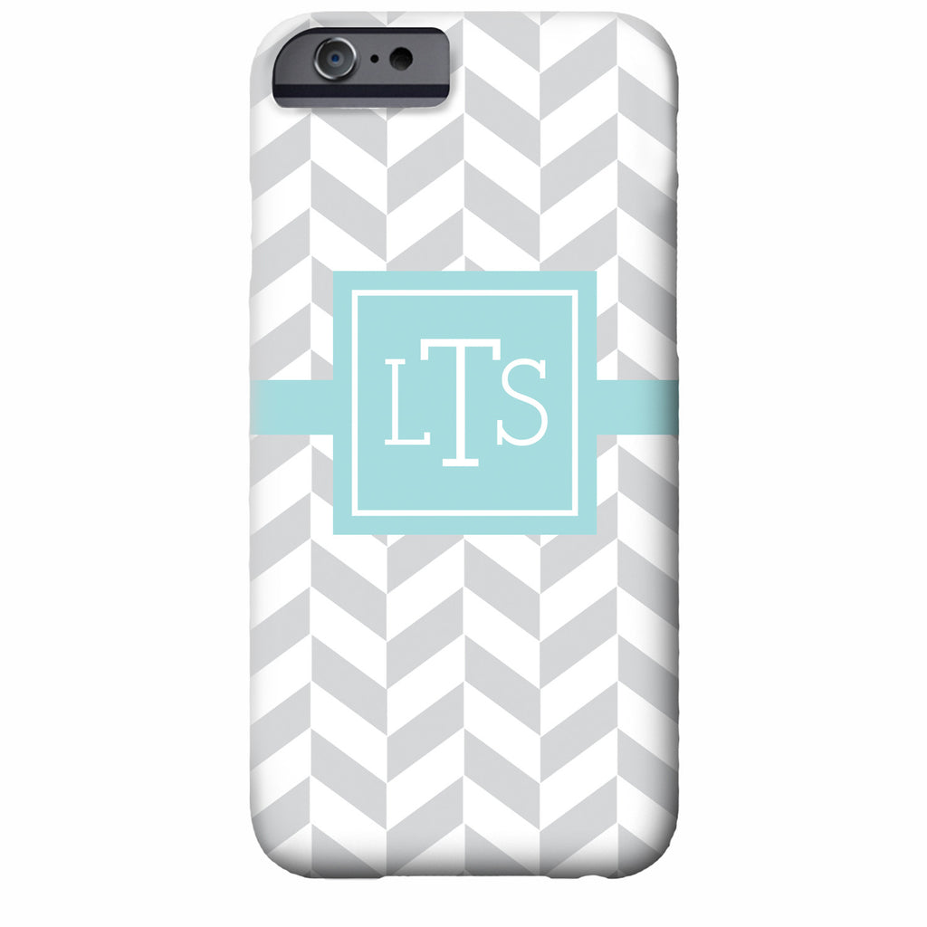 Monogrammed Herringbone iPhone Case | Swanky Press