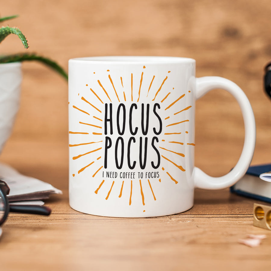 Hocus Pocus I Need Coffee to Focus Mug