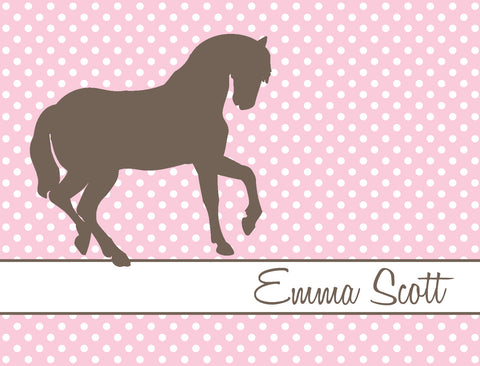 Horse on pink background