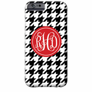 Monogrammed Houndstooth iPhone Case | Swanky Press