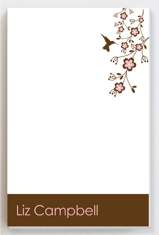 Hummingbird Pink Notepad