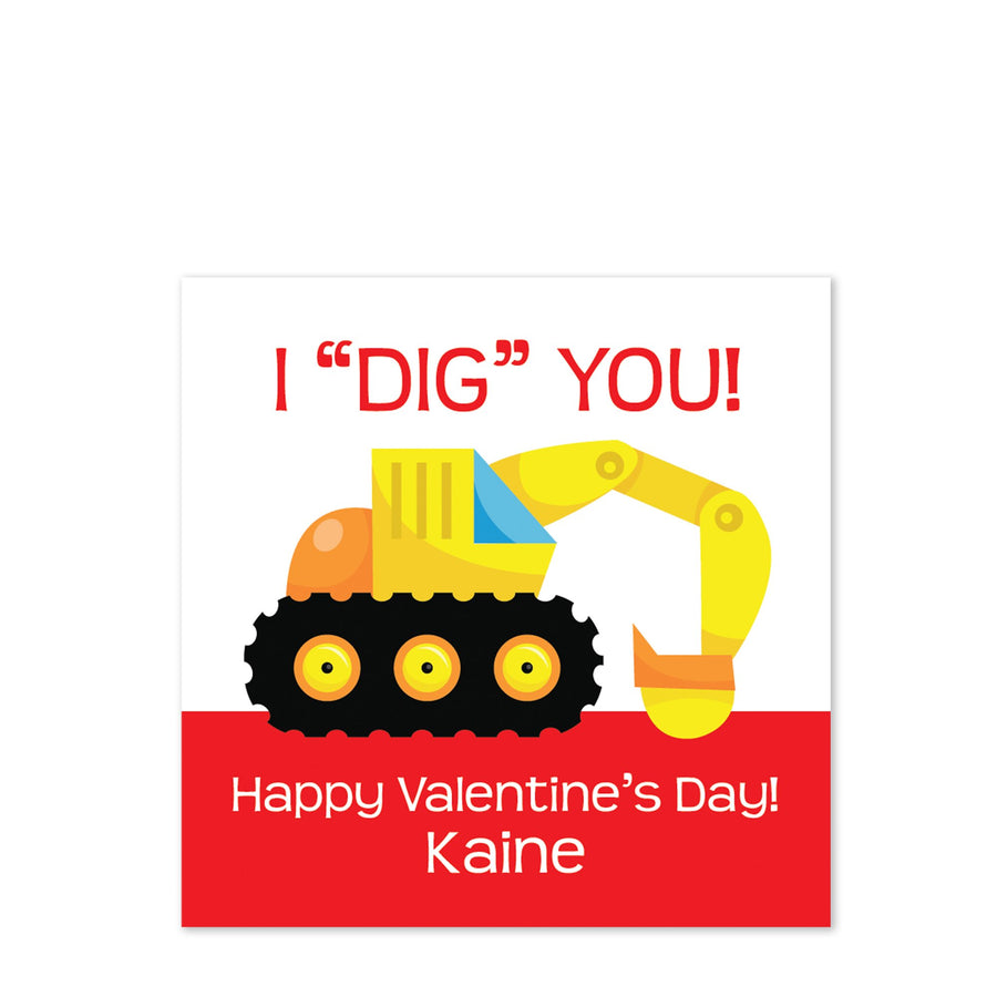 I dig you Valentine's Day class stickers | PIPSY.COM