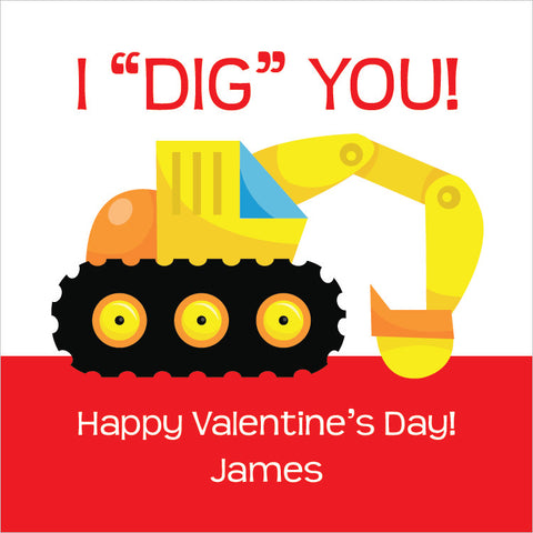 I dig you gift tags for Valentine's day