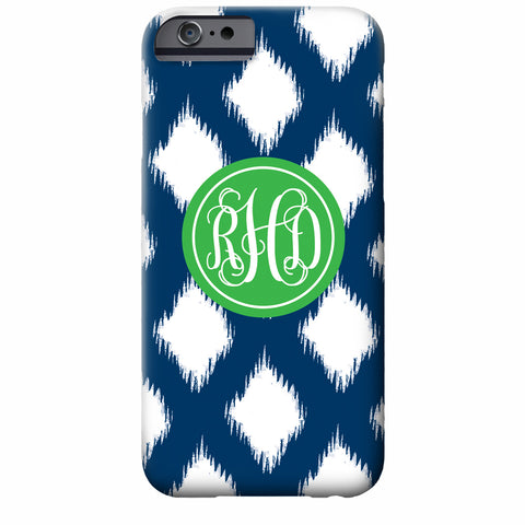 Monogrammed Ikat POP iPhone Case | Swanky Press