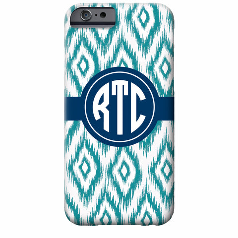 Monogrammed Ikat iPhone Case | Swanky Press