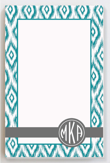 IKAT green notepad