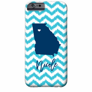 iKat Chevron State Love iPhone Case | Swanky Press (shown is Georgia)