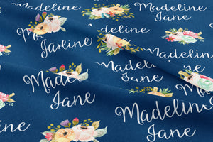Wildflower Personalized Crib Sheet