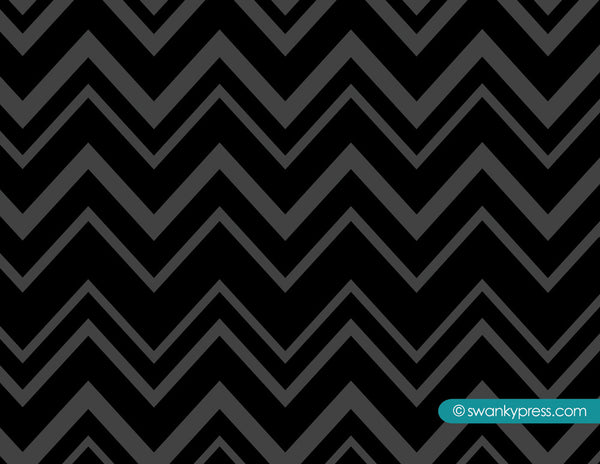 Zig zag flat notecards in black and peacock