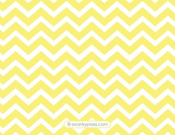 Lemon chevron flat notecards
