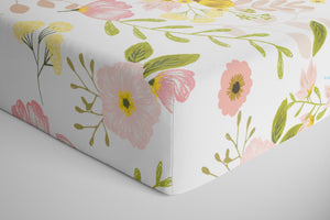 Blossom Personalized Crib Sheet