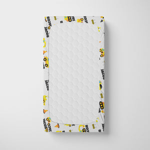 Construction Personalized Crib Sheet