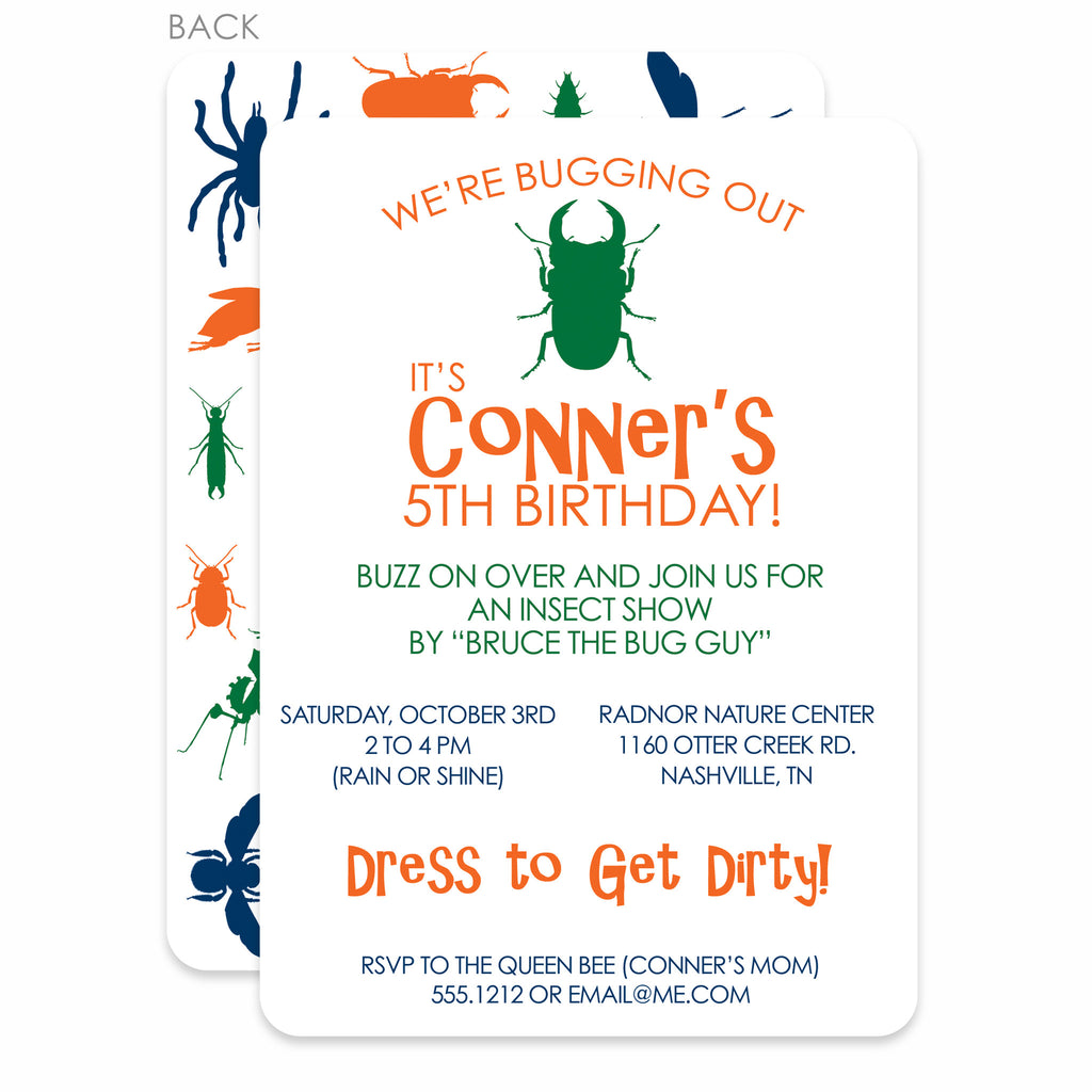 Bug Birthday Invitation | Swanky Press