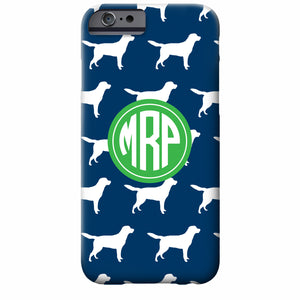 Monogrammed Labrador iPhone Case | Swanky Press