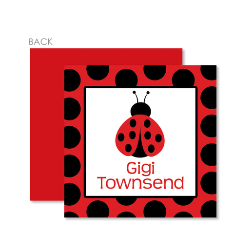 Ladybug Party Cardstock Favor Tag | Swanky Press | Red