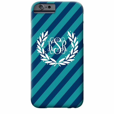 Monogrammed Laurel iPhone Case | Swanky Press