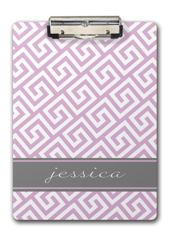 Lavender Greek Key Clipboard | Swanky Press