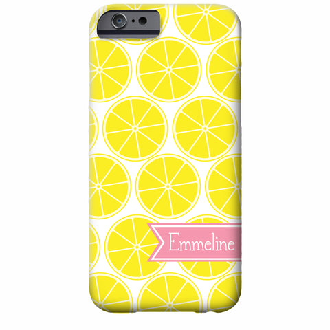 Personalized Lemon iPhone Case | Swanky Press