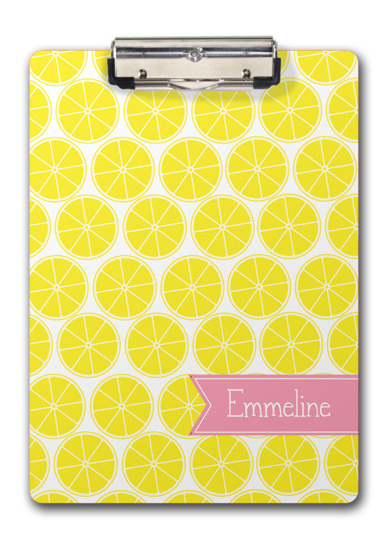 lemon or lemonade personalized clipboard