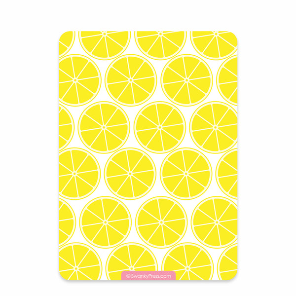 Lemonade Stand Birthday Invitation | Swanky Press (back view)
