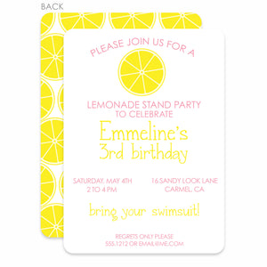 Lemonade Stand Birthday Invitation | Swanky Press