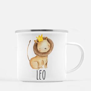 lion camp mug, personalized with child's name, Pipsy.com