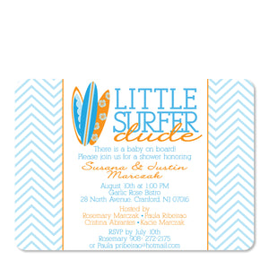 Little Surfer Dude Baby Shower Invitation
