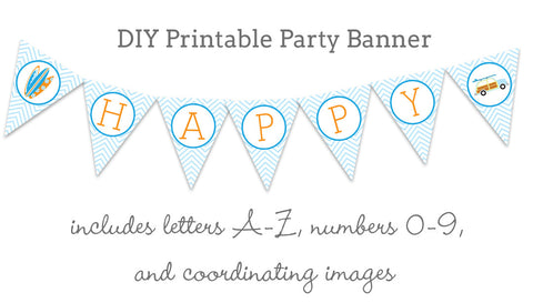 little surfer dude printable banner
